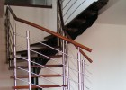 Montované schodiště mořená buková spárovka
